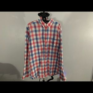 Natural Blue by Visitor: Red Blue striped shirt